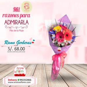 Ramo Gerberas Aroma a flores
