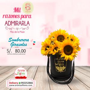Sombrerera Girasoles Aroma a flores