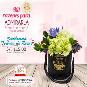 Sombrerera Terbura de Rosas Aroma de flores