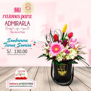Sombrerera Tierna Sonrisa Aroma a flores