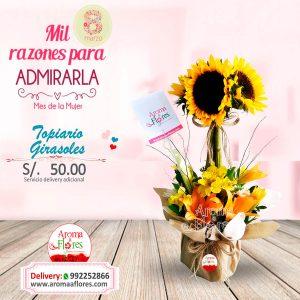 Topiario Girasoles Aroma a flores