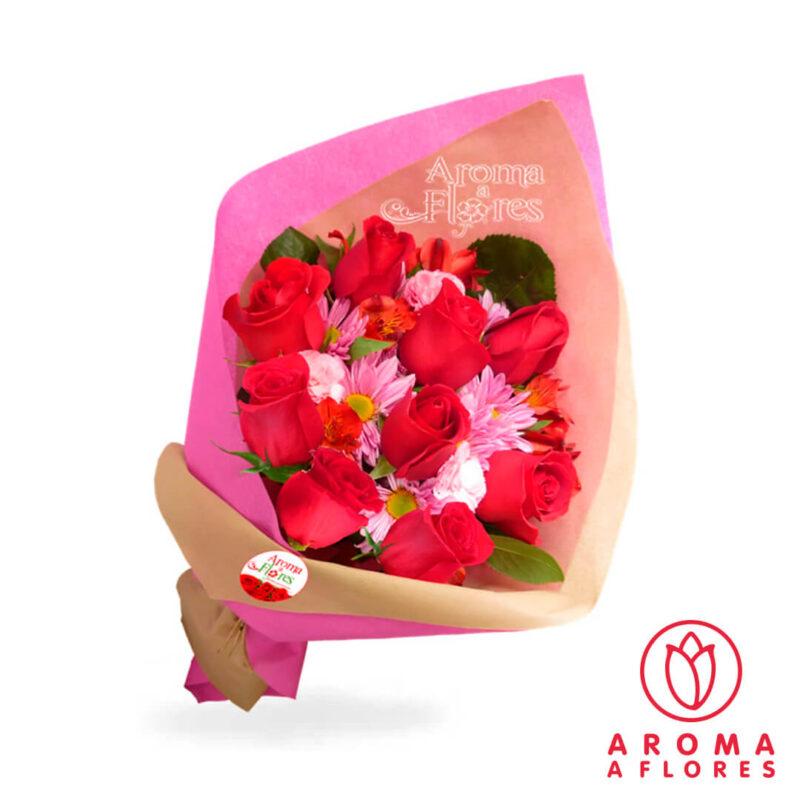 Ramo-9-Rosas-y-margaritas-aromaaflores