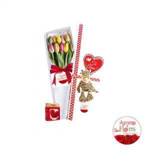 10 tulipanes aroma a flores