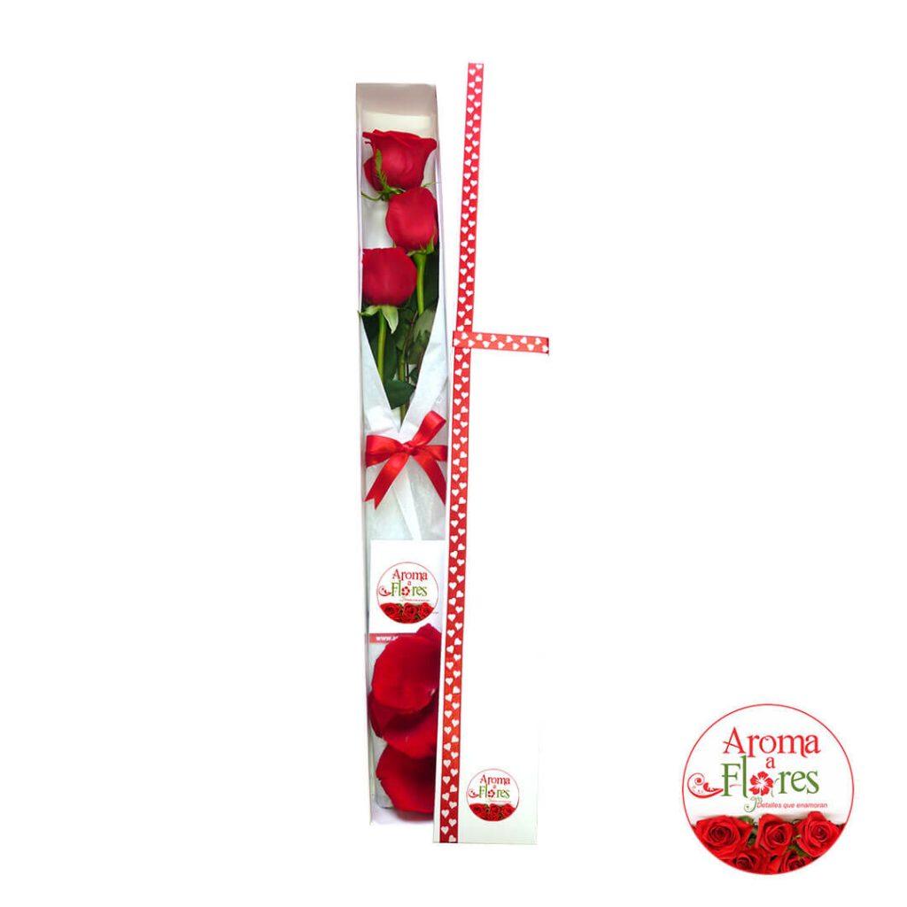 Caja 3 rosas aroma