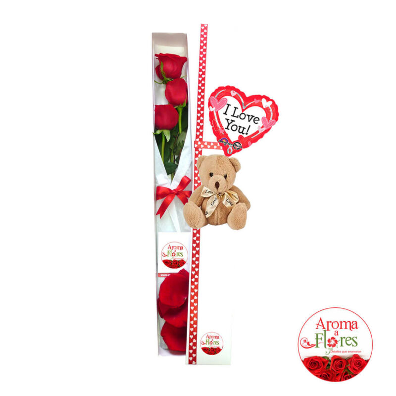 Caja 3 rosas dulzura aroma