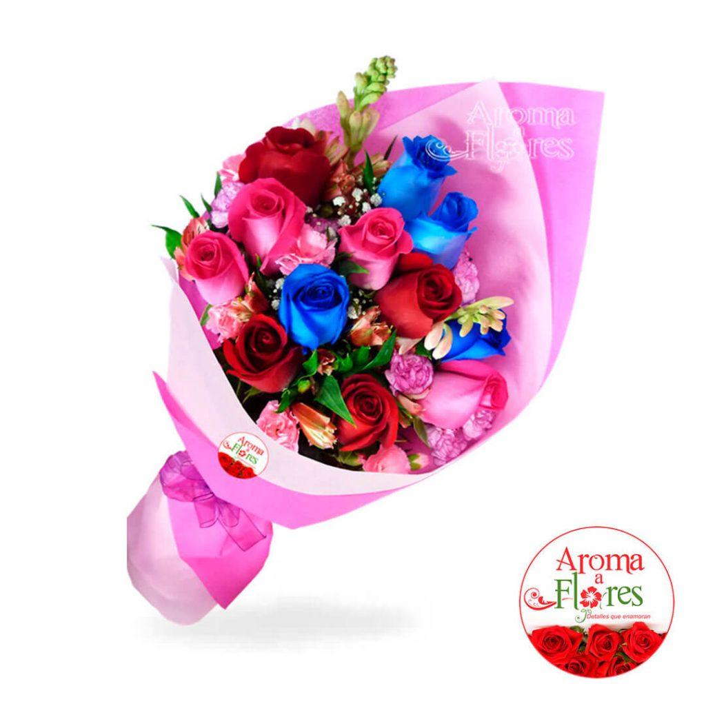 Ramo 12 Rosas Aroma a flores