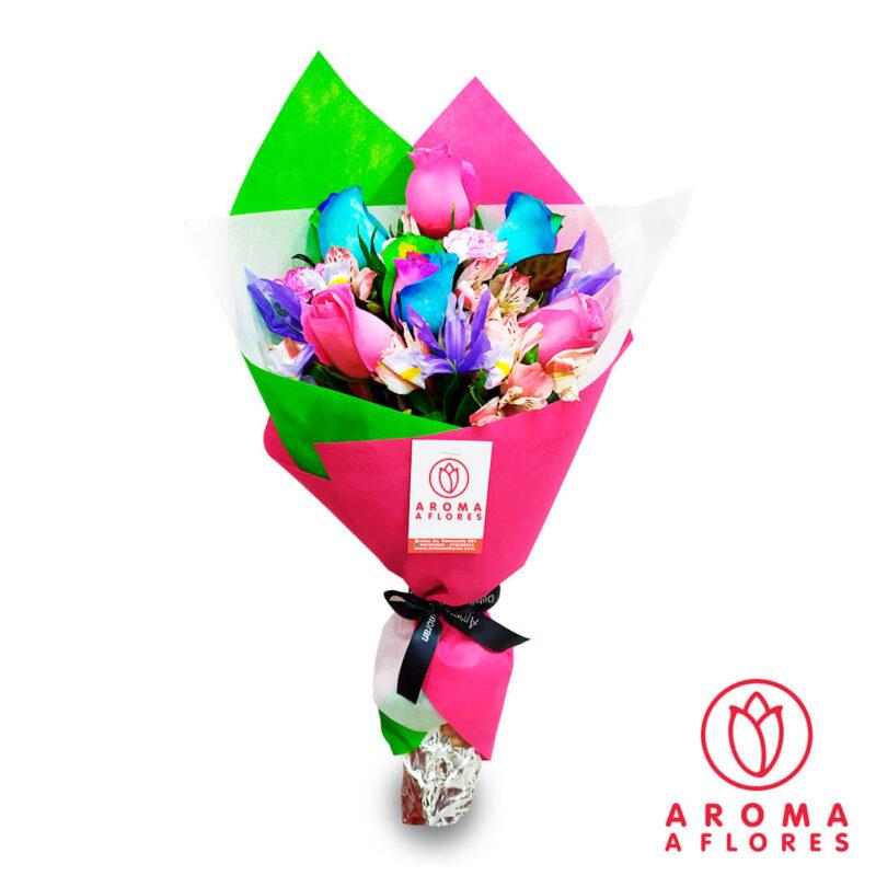 ramo-3-rosas-arcoiris-pink-aromaaflores