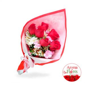 Rosas Ramo 6 aroma a flores