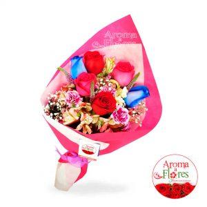 Ramo 6 rosas Aroma a flores