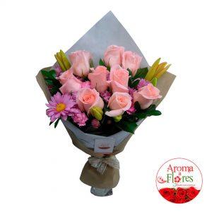 Ramo 9 Rosas Aroma a Flores