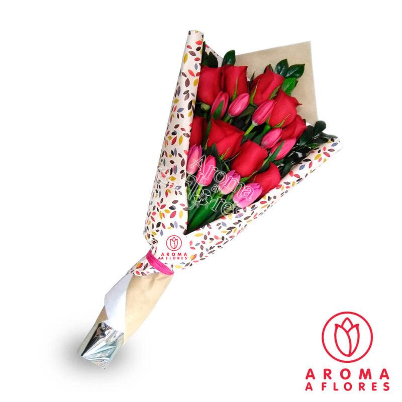 ramo-9-rosas-y-tulipanes-aromaaflores