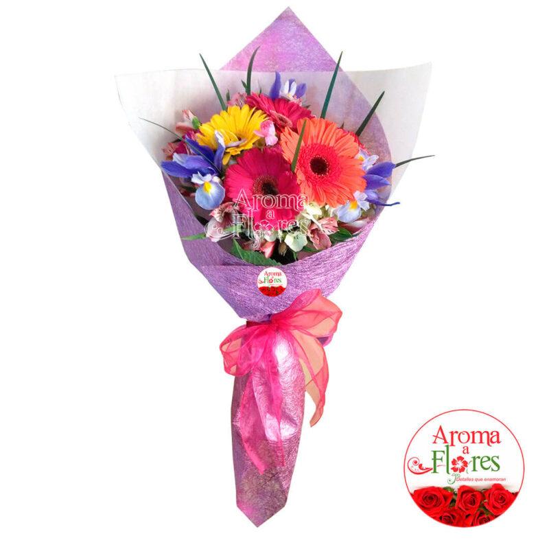 Ramo de gerberas aroma a flores