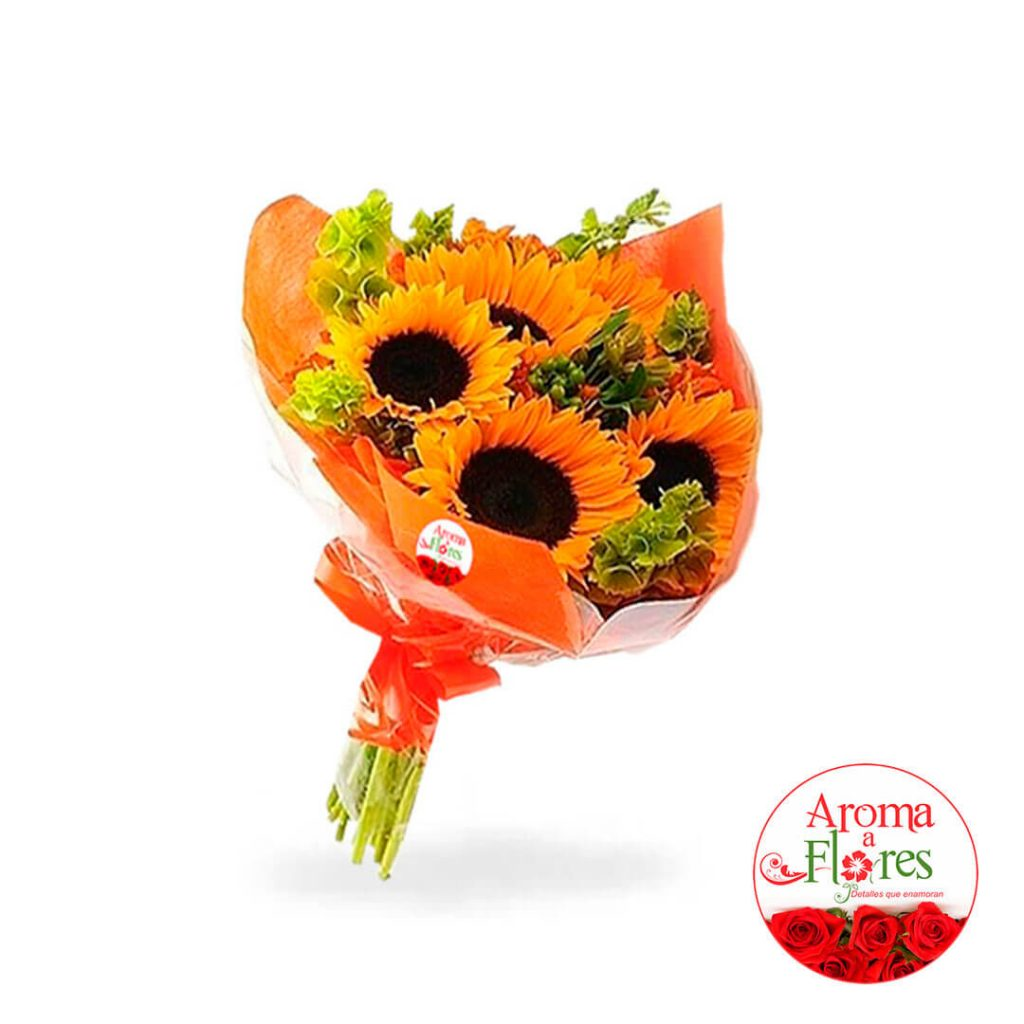 Ramo de girasol aroma a flores