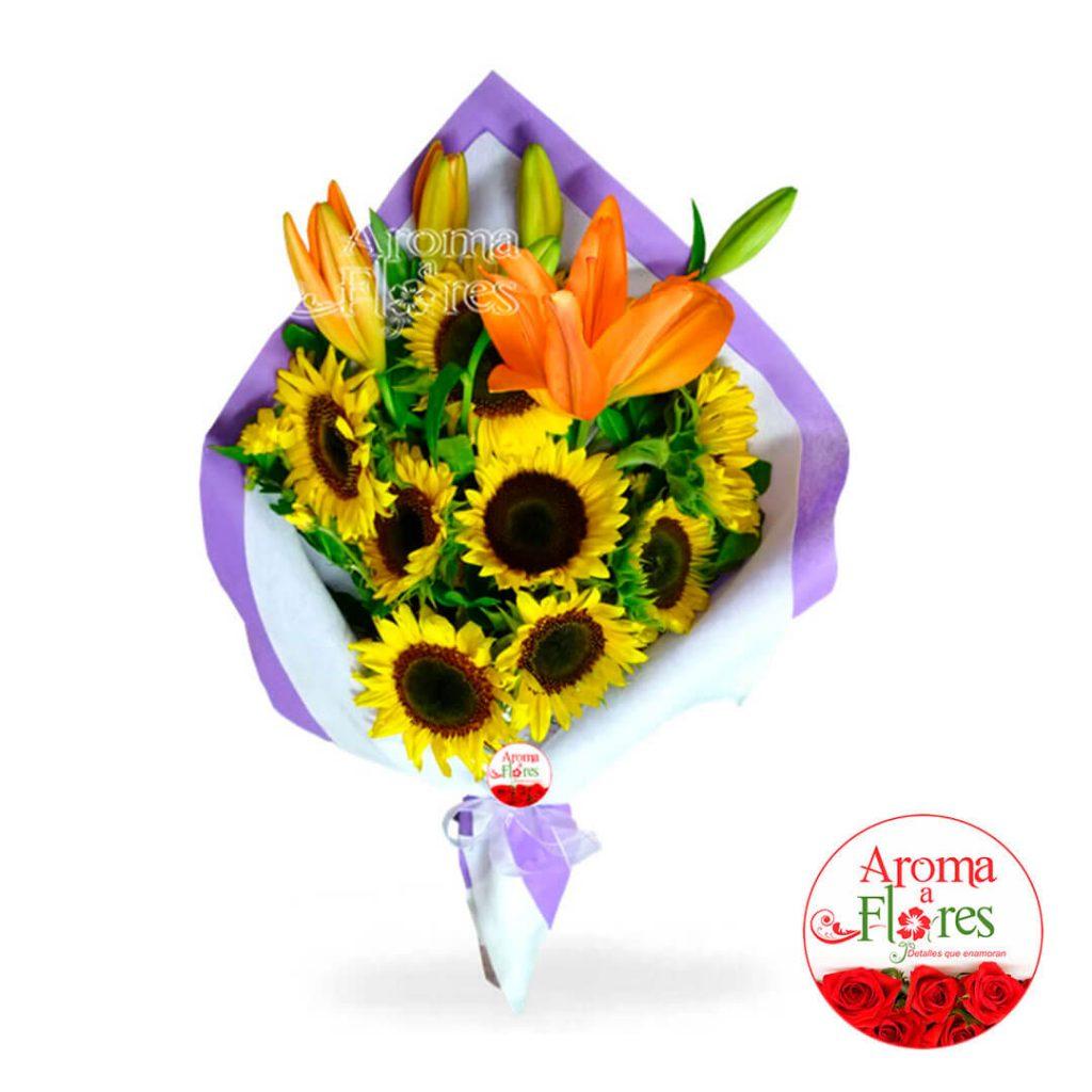 Ramo de girasoles aroma a flores