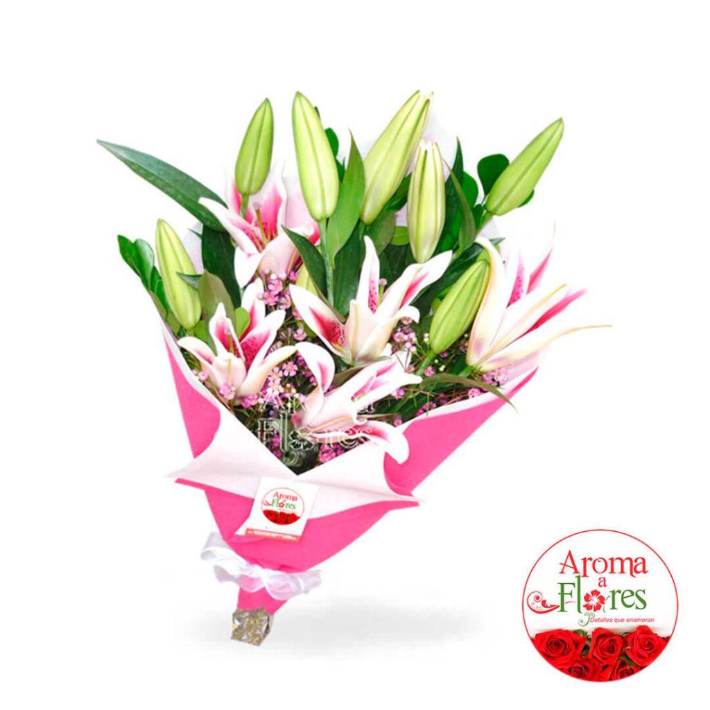 Ramo lilium aroma a flores