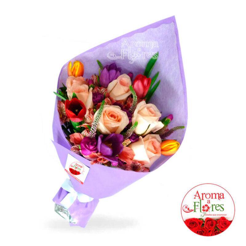 Ramo Rosas y Tulipanes Aroma a Flores