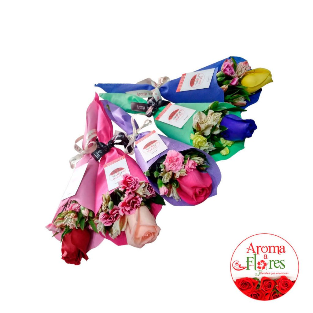 Ramo 1 rosa aroma a flores