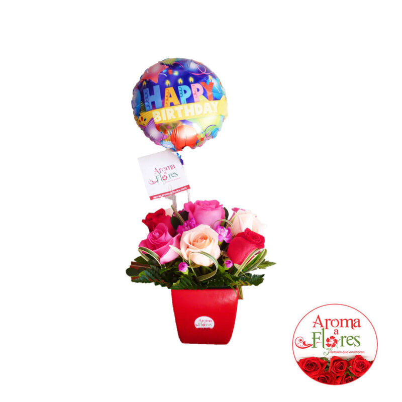 Happy Birthday Aroma a flores