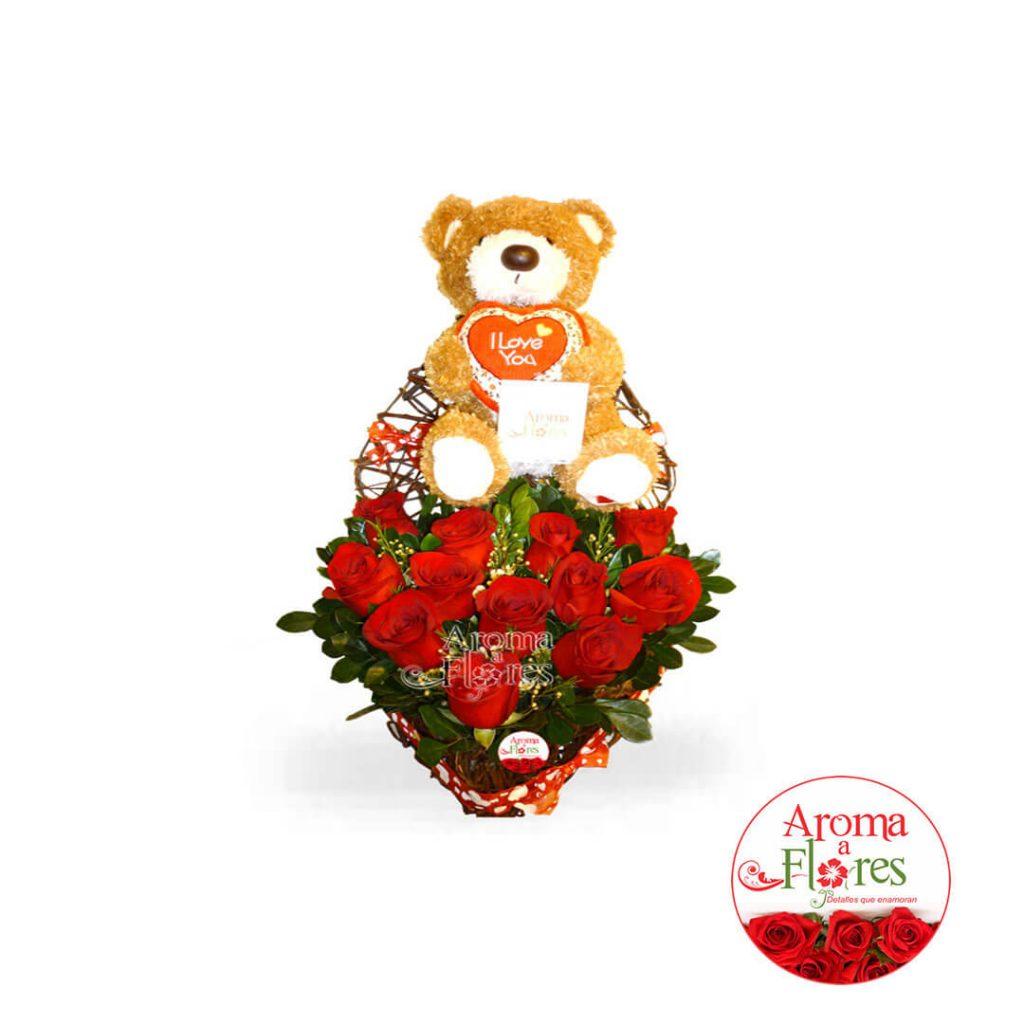 Corazon de Rosas Aroma a Flores