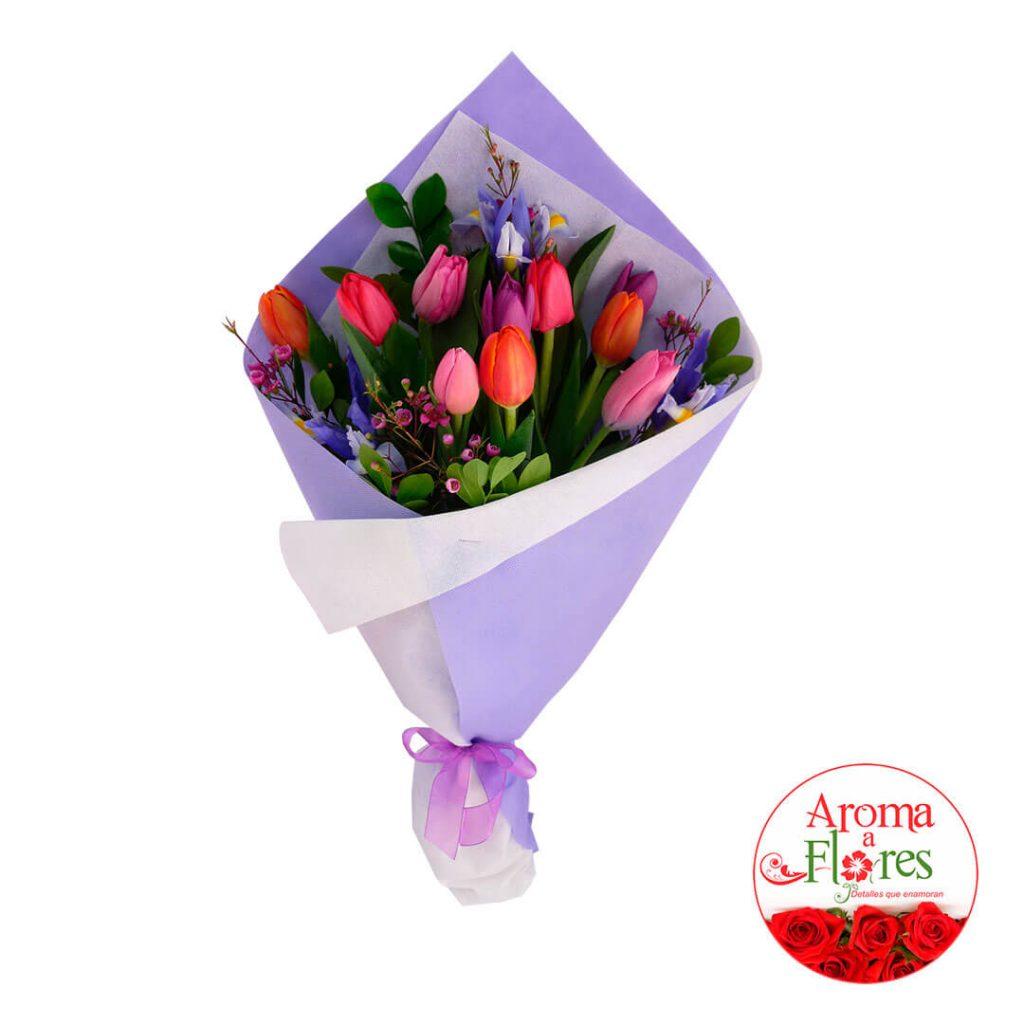 Ramo 10 Tulipanes Aroma a flores