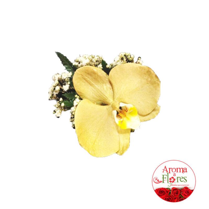 corsage orquidea amarilla