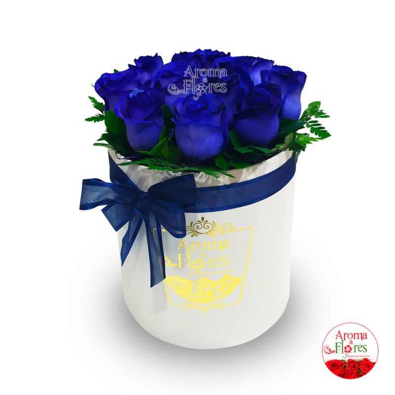 box 12 rosas-azules