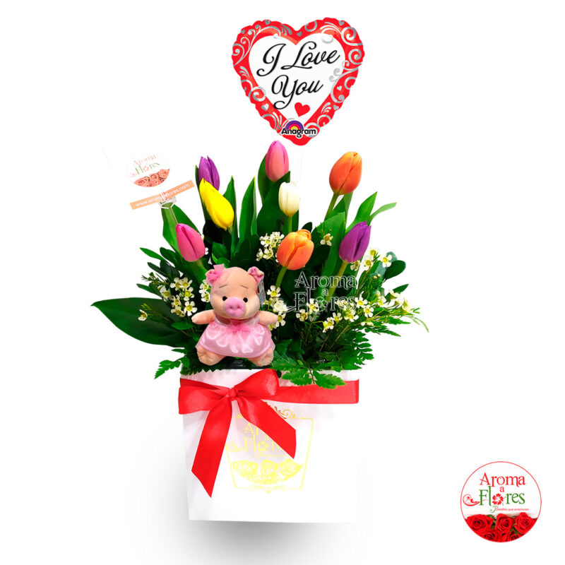 box tulipanes-y peluche