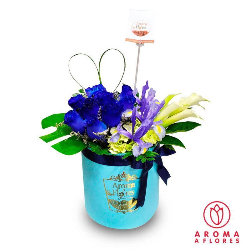 Box-9-Rosas-Azules-iris-y-calas-aromaaflores