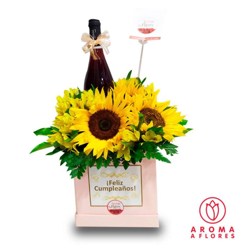 Box-Girasoles-vino-y-globo-gr-aromaaflores