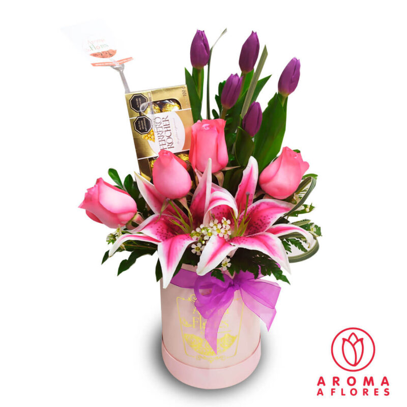 Box-Tulipanes-Rosas-y-Ferrero-aromaaflores