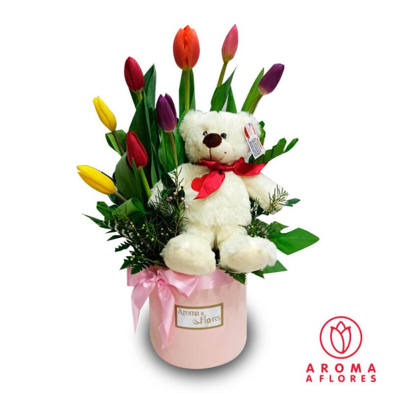Box-Tulipanes-y-Osito-aromaaflores