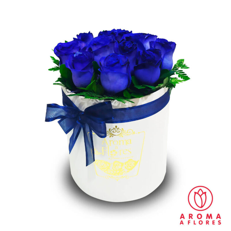 box-12-rosas-azules-aromaaflores