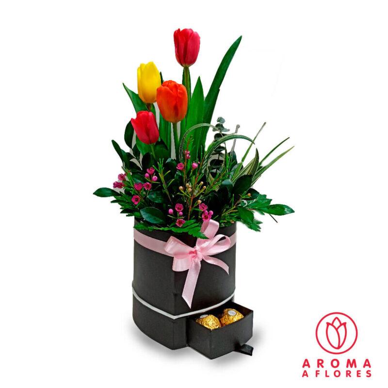 box-tulipanes-y-ferrero-aromaaflores