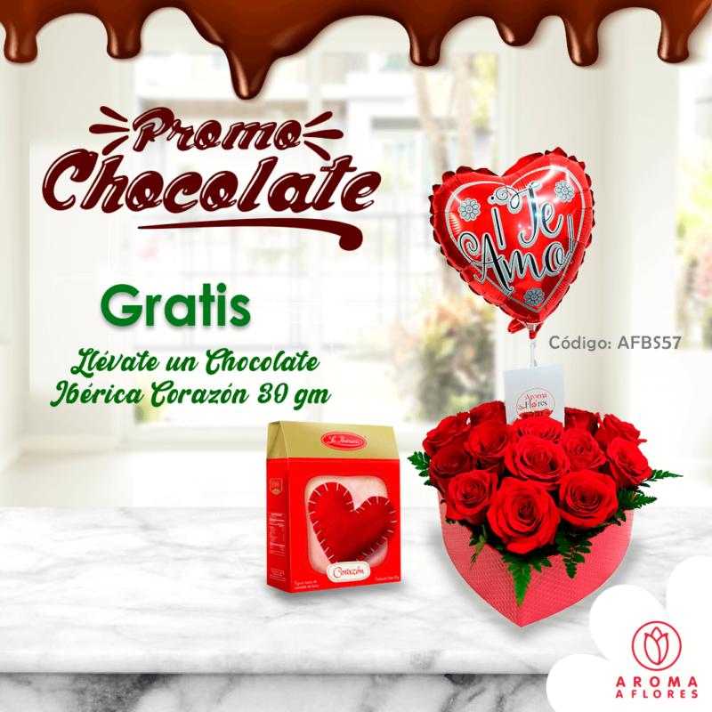 box corz,rosas y gl promo chocolate-aromaaflores