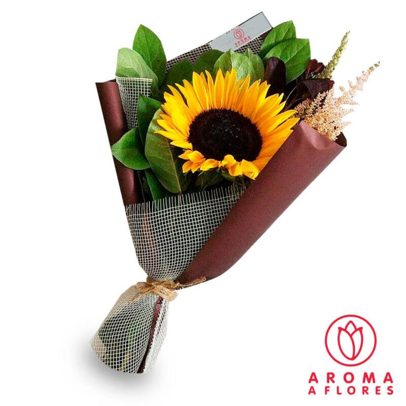 ramo-1-girasol-follaje-aromaaflores