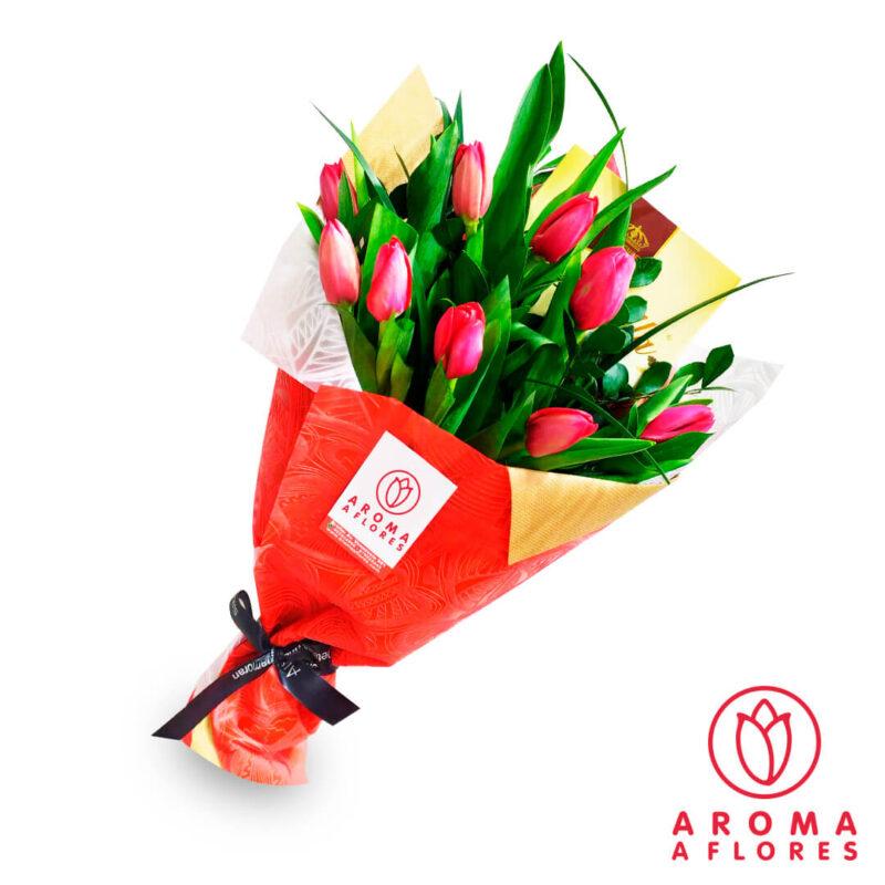 ramo-10-chocolates-y-tulipanes
