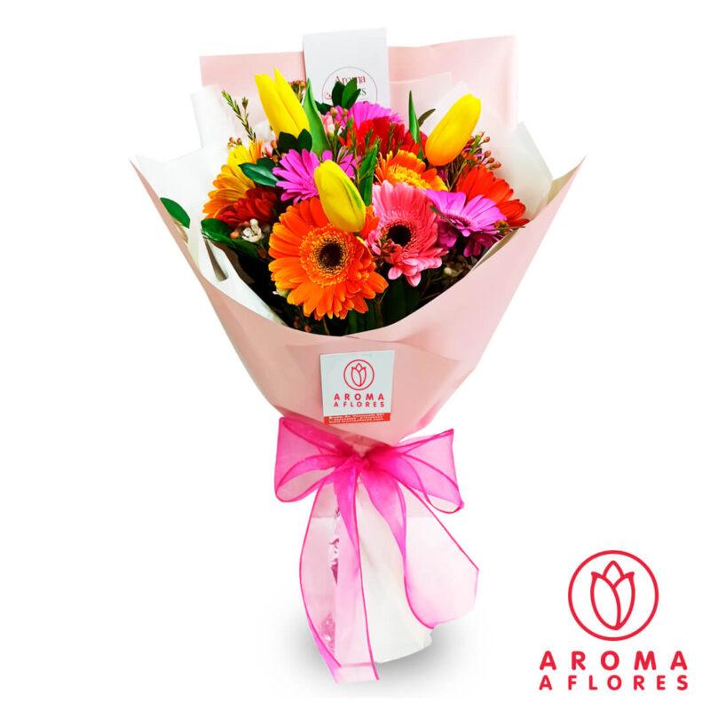 ramo-10-gerberas-y-3-tulipanes-aromaaflores