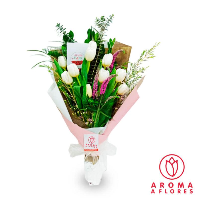 ramo-10-tulipanes-blancos-vintage-aromaaflores