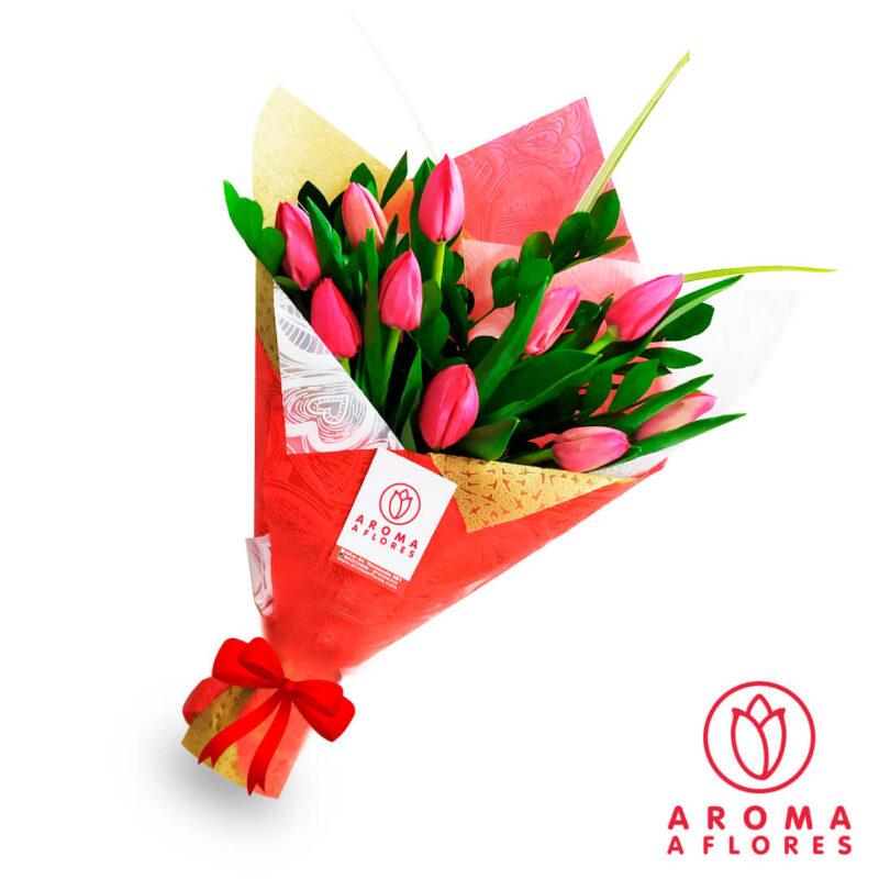 ramo-10-tulipanes-rojos-aromaaflores