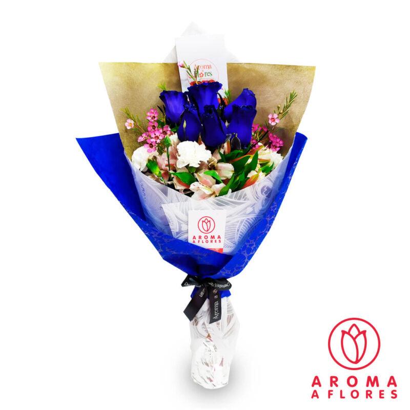 ramo-6-rosas-azules-aromaaflores