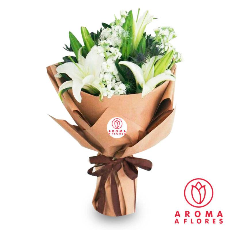 ramo-lilium-blanco-aromaaflores