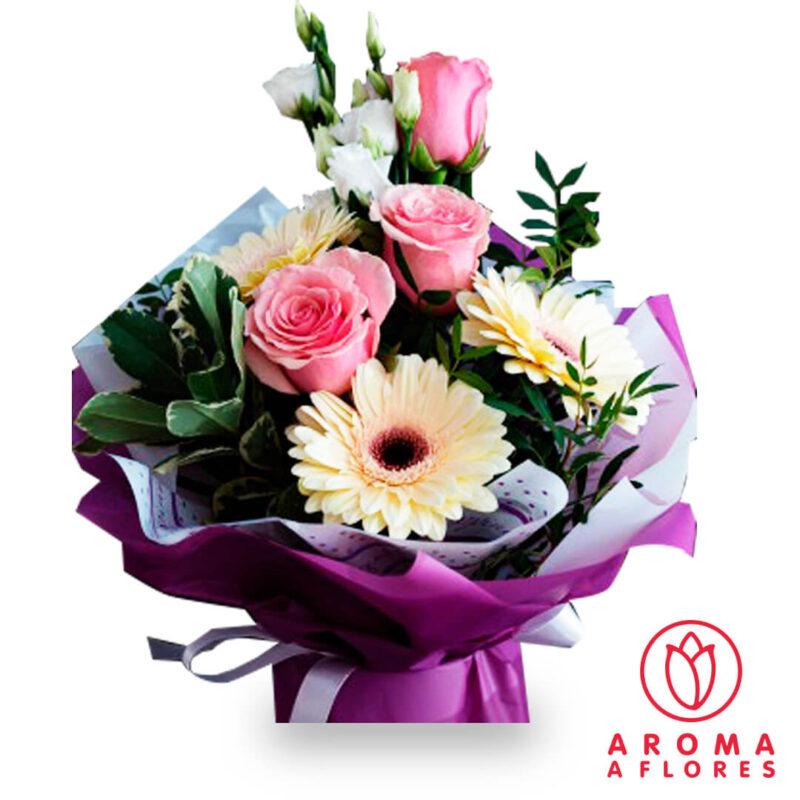 ramo-rosas-y-gerberas-lila-aromaaflores