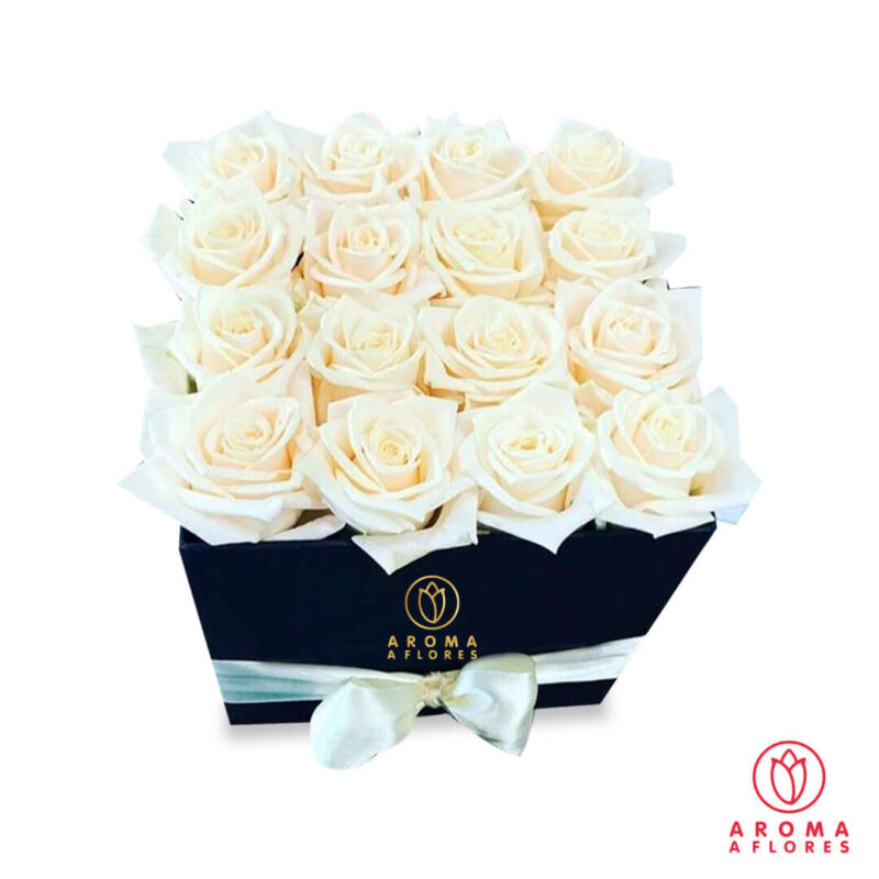 Box-16-Rosas-Blancas-aromaaflores