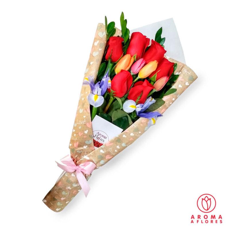 ramo-6-rosas-y-tulipanes-aromaaflores