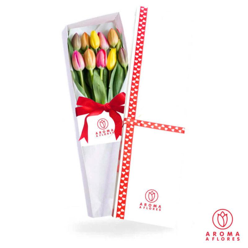 caja-10-tulipan-aromaaflores
