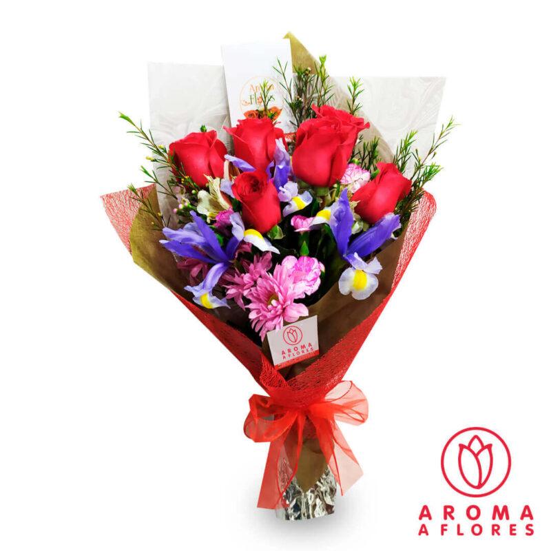 ramo-6-rosas-iris-aromaaflores